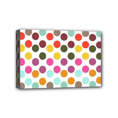 Dotted Pattern Background Mini Canvas 6  X 4  by Modern2018