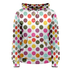 Dotted Pattern Background Women s Pullover Hoodie