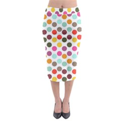 Dotted Pattern Background Midi Pencil Skirt