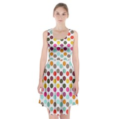 Dotted Pattern Background Racerback Midi Dress