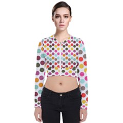 Dotted Pattern Background Bomber Jacket