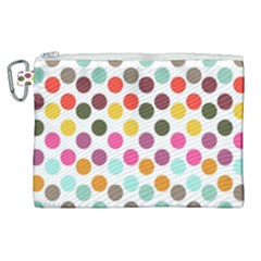 Dotted Pattern Background Canvas Cosmetic Bag (xl)