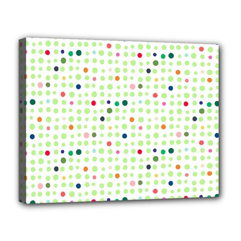 Dotted Pattern Background Full Colour Canvas 14  X 11