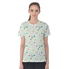 Dotted Pattern Background Full Colour Women s Cotton Tee