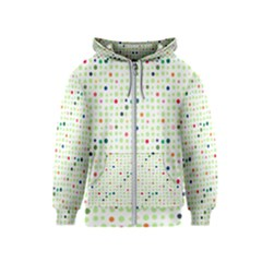 Dotted Pattern Background Full Colour Kids  Zipper Hoodie