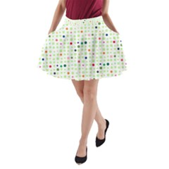 Dotted Pattern Background Full Colour A Line Pocket Skirt
