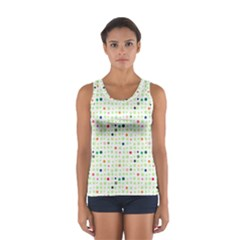 Dotted Pattern Background Full Colour Sport Tank Top