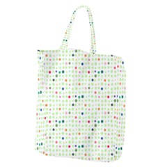 Dotted Pattern Background Full Colour Giant Grocery Zipper Tote by Modern2018