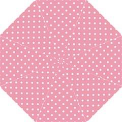 Pink Polka Dot Background Hook Handle Umbrellas (large) by Modern2018