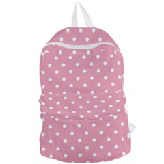 Pink Polka Dot Background Foldable Lightweight Backpack by Modern2018