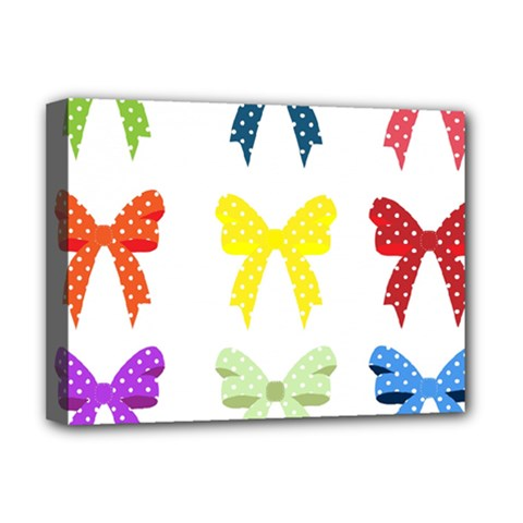 Ribbons And Bows Polka Dots Deluxe Canvas 16  X 12