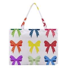 Ribbons And Bows Polka Dots Medium Tote Bag by Modern2018