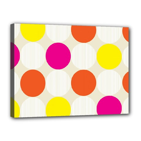 Polka Dots Background Colorful Canvas 16  X 12
