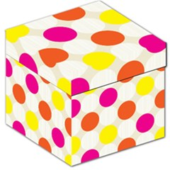 Polka Dots Background Colorful Storage Stool 12