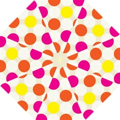 Polka Dots Background Colorful Hook Handle Umbrellas (small)