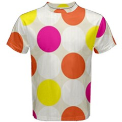 Polka Dots Background Colorful Men s Cotton Tee
