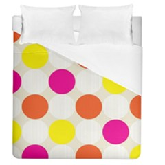 Polka Dots Background Colorful Duvet Cover (queen Size)