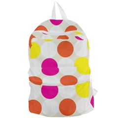 Polka Dots Background Colorful Foldable Lightweight Backpack by Modern2018