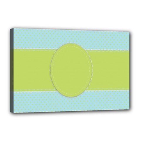 Lace Polka Dots Border Canvas 18  X 12