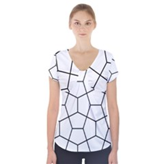 Cairo Tessellation Simple Short Sleeve Front Detail Top