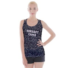 Airsoft Camo Criss Cross Back Tank Top