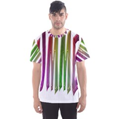 Summer Colorful Rainbow Typography Men s Sports Mesh Tee