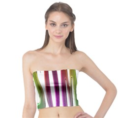 Summer Colorful Rainbow Typography Tube Top