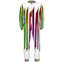 Summer Colorful Rainbow Typography Onepiece Jumpsuit (men)