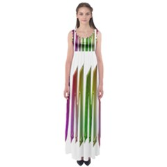 Summer Colorful Rainbow Typography Empire Waist Maxi Dress