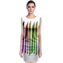Summer Colorful Rainbow Typography Classic Sleeveless Midi Dress by yoursparklingshop