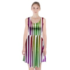 Summer Colorful Rainbow Typography Racerback Midi Dress
