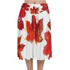 Innovative Velvet Flared Midi Skirt by GlobidaDesigns