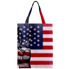 United State Flags With Peace Sign Zipper Classic Tote Bag
