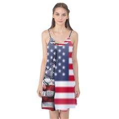 United State Flags With Peace Sign Camis Nightgown
