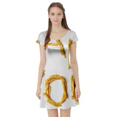 Thank You French Fries Short Sleeve Skater Dress