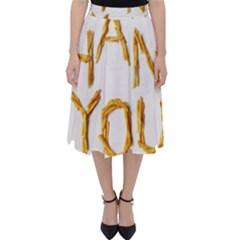 Thank You French Fries Folding Skater Skirt by goodart