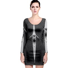 Rower Long Sleeve Bodycon Dress