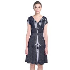 Rower Short Sleeve Front Wrap Dress