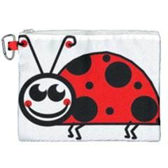 Lady Bug Clip Art Drawing Canvas Cosmetic Bag (xxl) by goodart