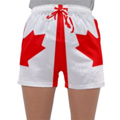 Flag Of Canada Sleepwear Shorts