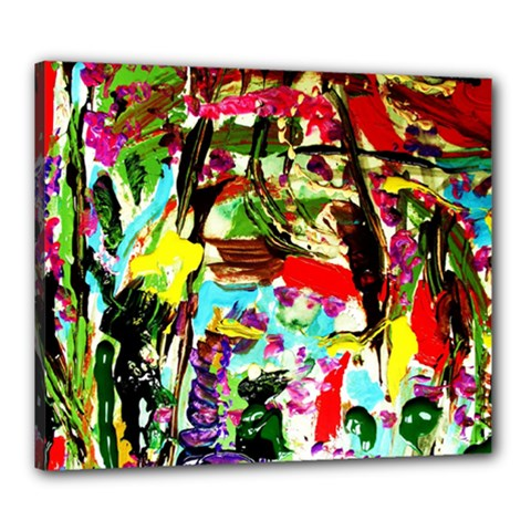 No Warrant For Blossoming Corner Canvas 24  X 20  by bestdesignintheworld