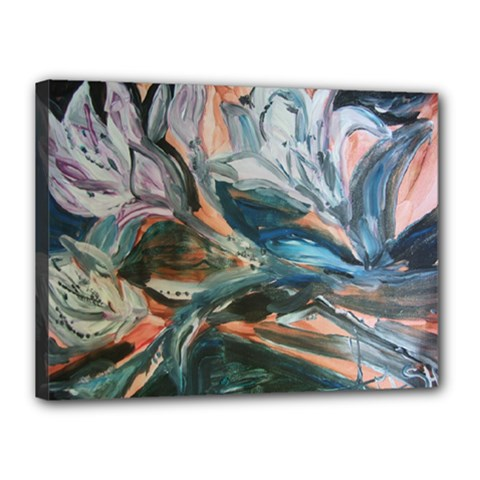 Night Lillies Canvas 16  X 12