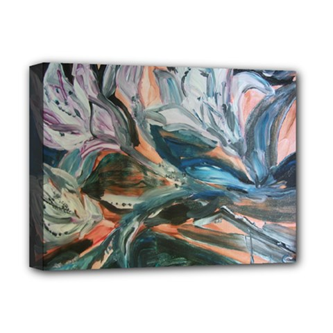 Night Lillies Deluxe Canvas 16  X 12