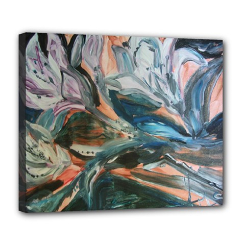 Night Lillies Deluxe Canvas 24  X 20