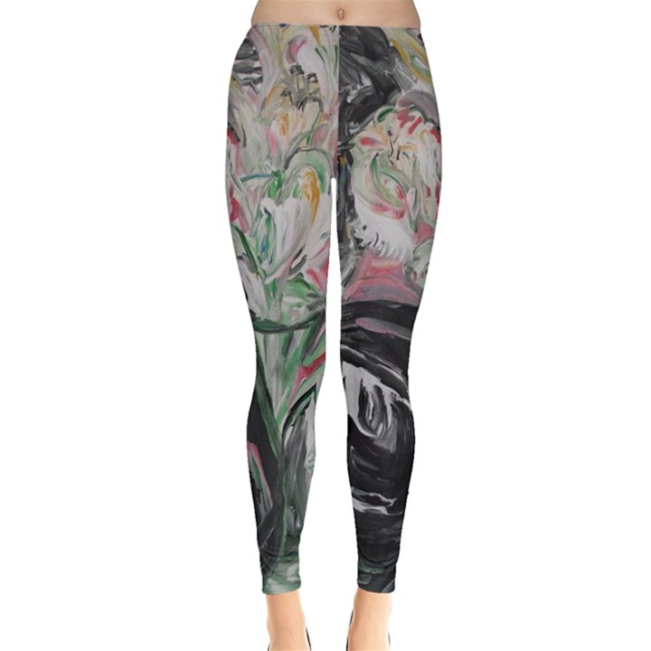 Lady With Lillies Leggings