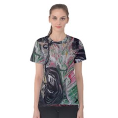 Lady With Lillies Women s Cotton Tee