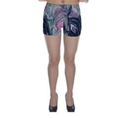 Lady With Lillies Skinny Shorts