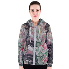 Lady With Lillies Women s Zipper Hoodie