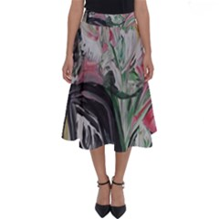 Lady With Lillies Perfect Length Midi Skirt