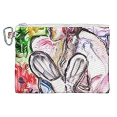 Every Girl Has A Dream Canvas Cosmetic Bag (xl)
